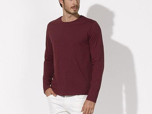 Tee-shirt manches longues - coton Bio équitable - Coloris Bordeaux