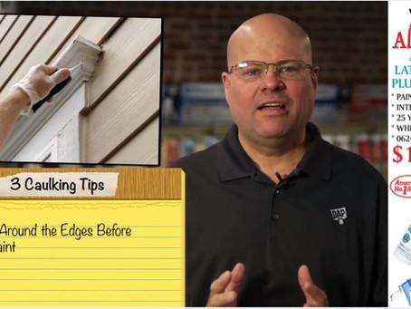 How to Properly Use Caulking!