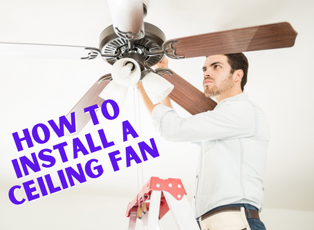 DIY Tip: Installing A Ceiling Fan