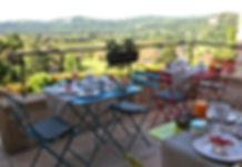 petit dejeuner vue vallee dordogne
