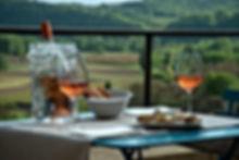 apperitif d'accueil avec vue sur la vallee