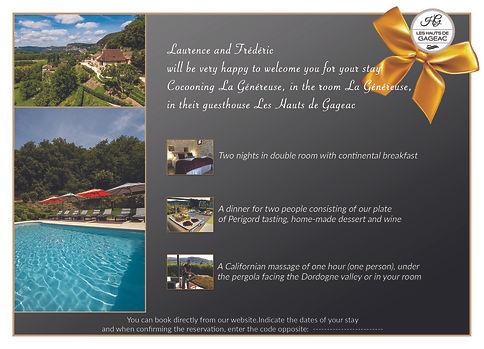 chambre hote gift card sarlat perigord dordogne swimming pool truffle luxury