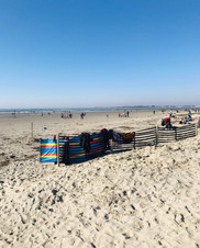 Tides out on Wittering Beach