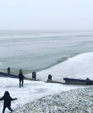 West Wittering beach in the snow
