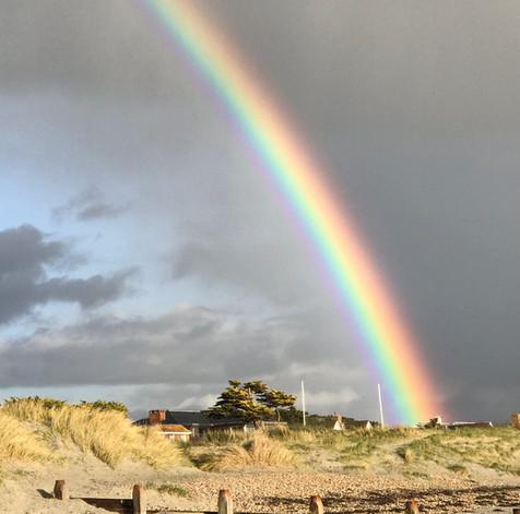 Rainbow over the beach