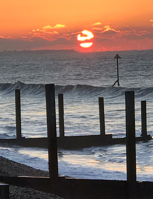 Sun rise at East Wittering