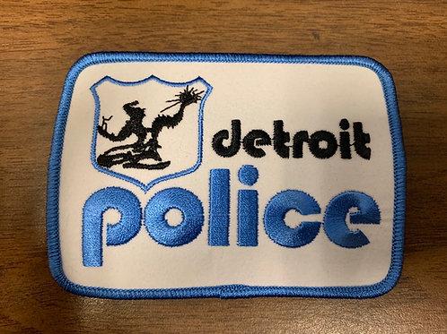 Old School Detroit Police logo patch
