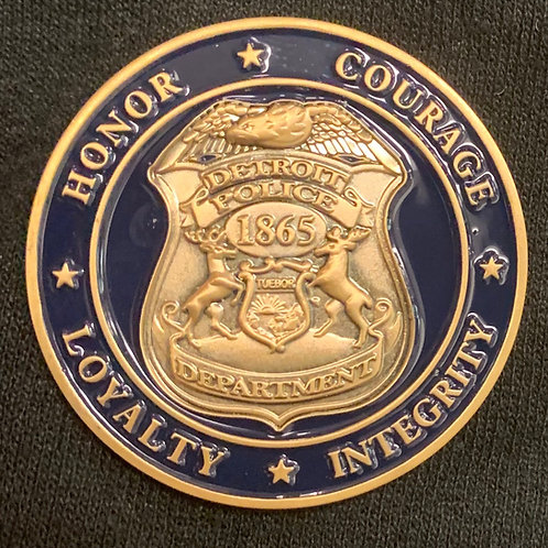 Detroit Police Challenge Coin