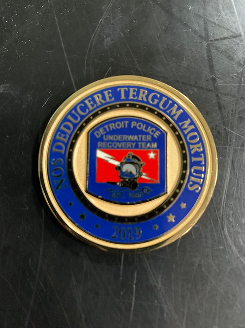 Detroit Police Underwater Recovery Team Coin