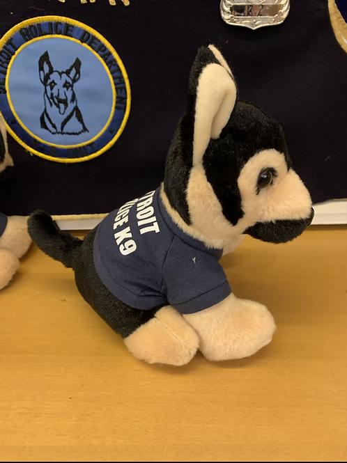 Detroit Police K9 stuffed German Shepherd 6 inches tall
