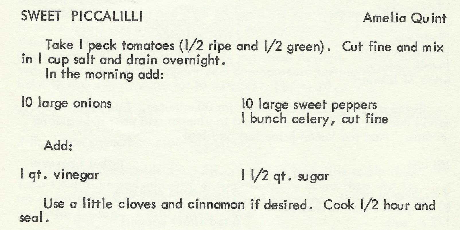 Sweet Piccalilli