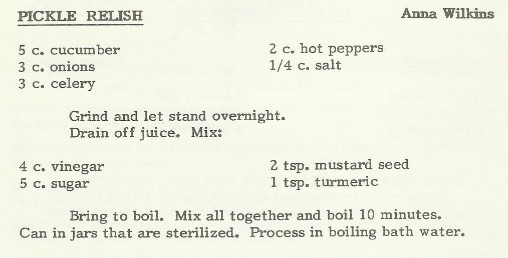 Pickle Relish