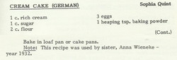 Cream Cake (German)