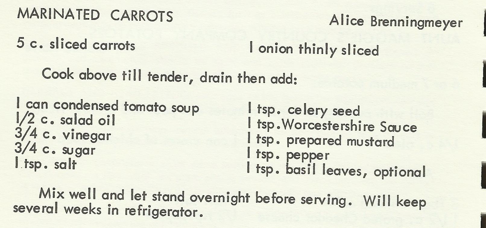 Marinated Carrots