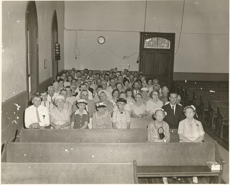 Congregation in Old Brick Church