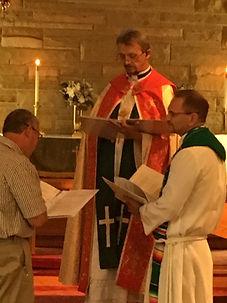 Pastor Kent Hollis Being Installed as Pastor of St. John Lutheran Church Metropolis, IL