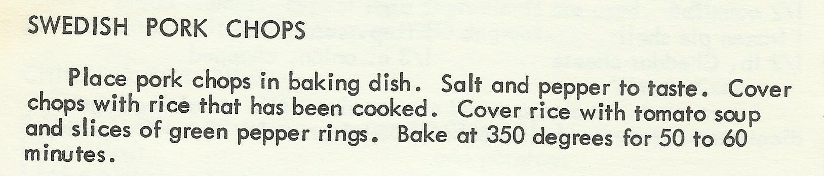 Swedish Pork Chops
