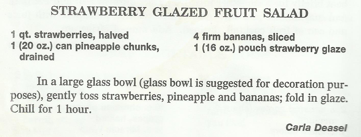 Strawberry Glazed Fruit Salad