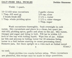 Salt-Free Dill Pickles