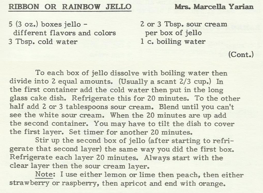 Ribbon or Rainbow Jello