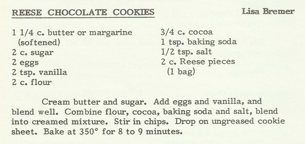 Reese Chocolate Cookies