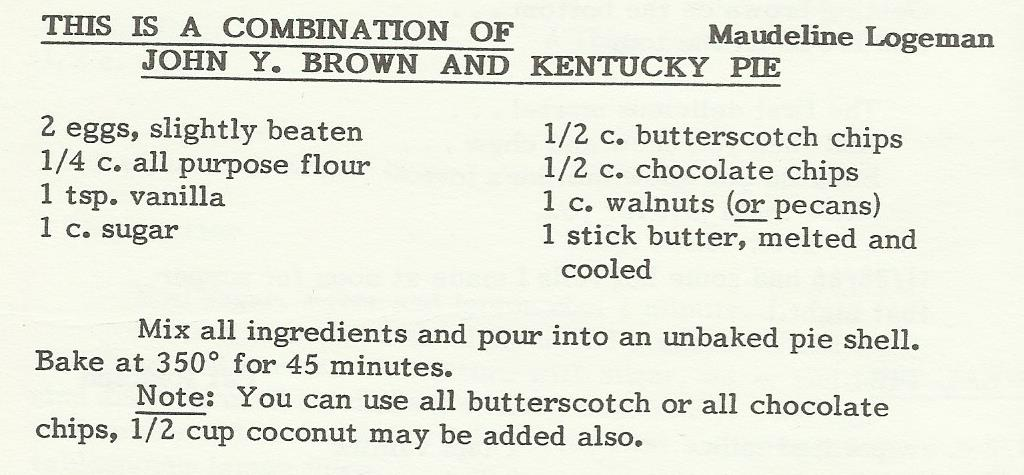 John Y. Brown and Kentucky Pie