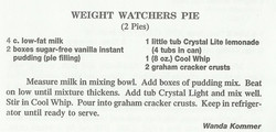 Weight Watchers Pie