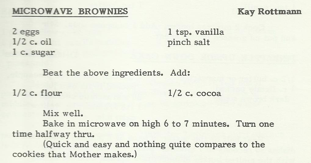 Microwave Brownies 2