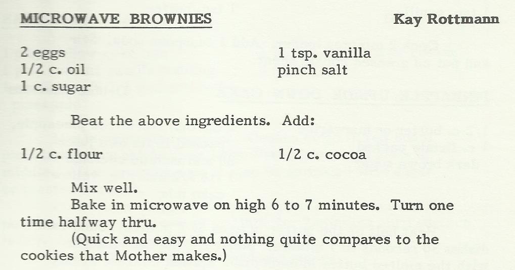 Microwave Brownies 2