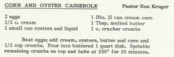 Corn and Oyster Casserole