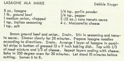 Lasagna Ala Marie