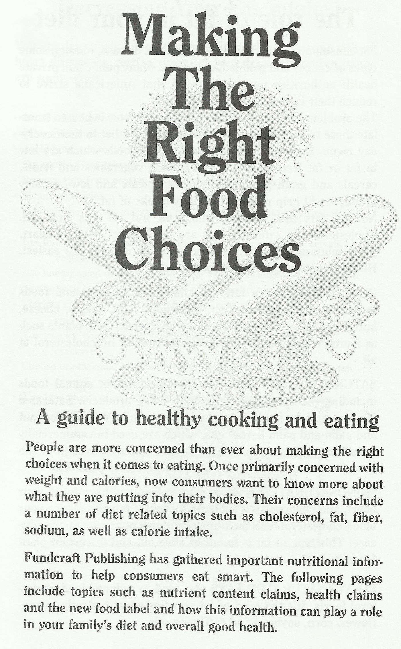 Making the Right Food Choices
