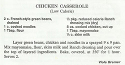 Chicken Casserole (Low Calorie)