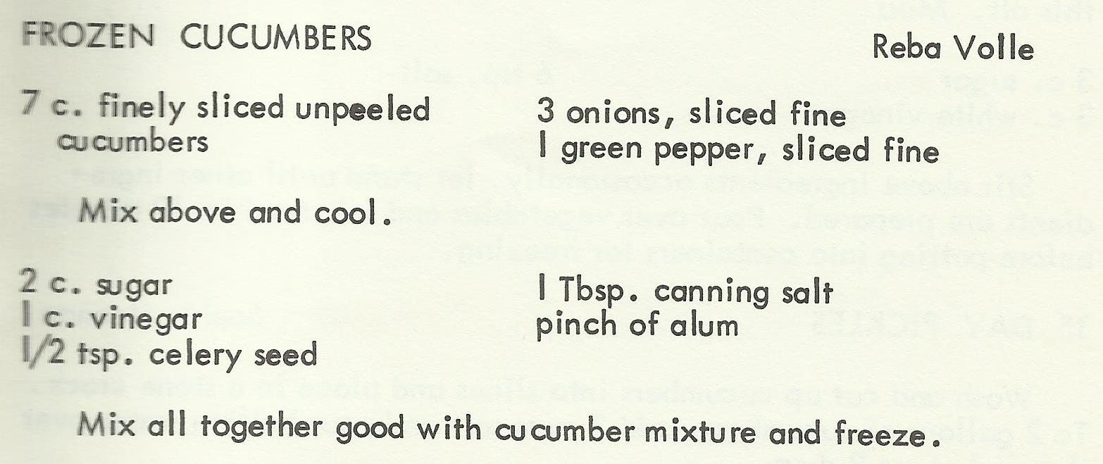 Frozen Cucumbers