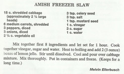 Amish Freezer Slaw