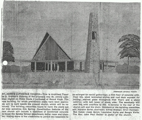 Archetect's Drawing of Completed Church Building