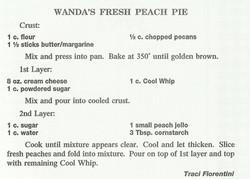 Wanda's Fresh Peach Pie