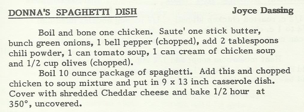 Donna's Spaghetti Dish