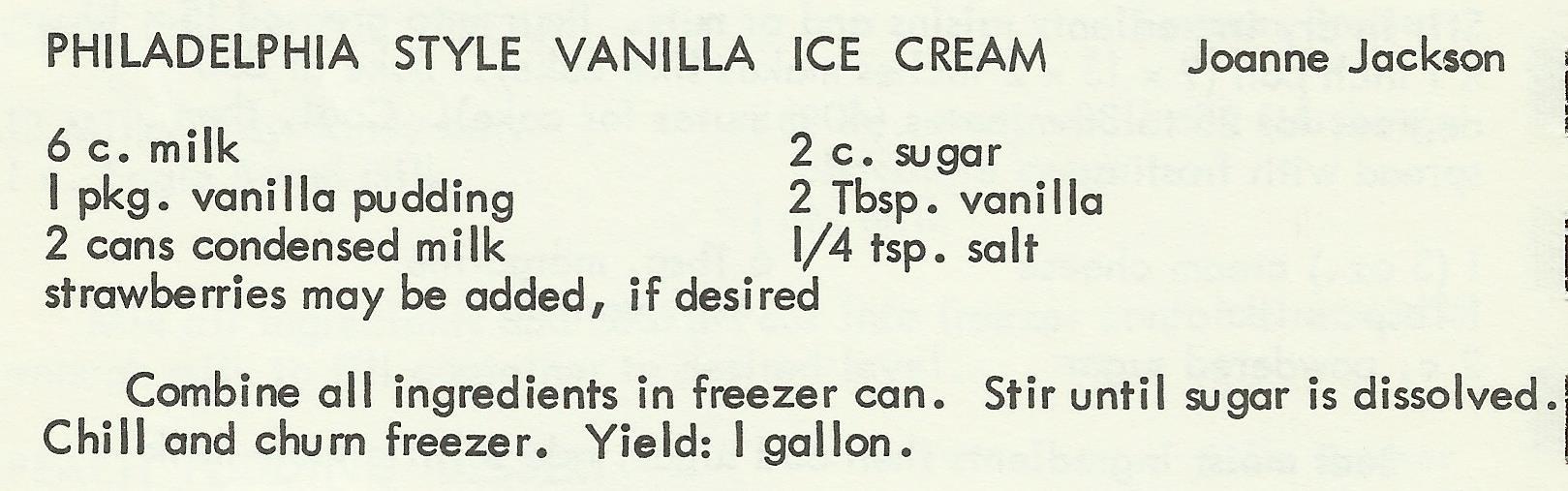 Philadelphia Style Vanilla Ice Cream