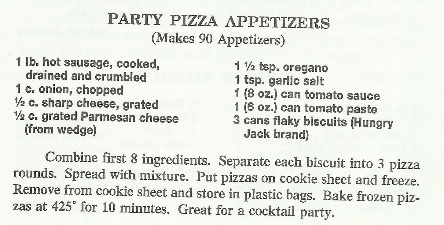 Party Pizza Appetizers