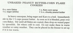 Unbaked Peanut Butter-Corn Flake Cookies