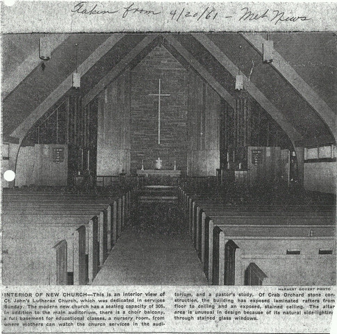 Inside of New Church After Built