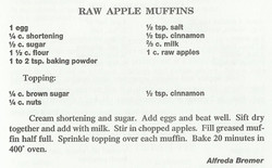 Raw Apple Muffins