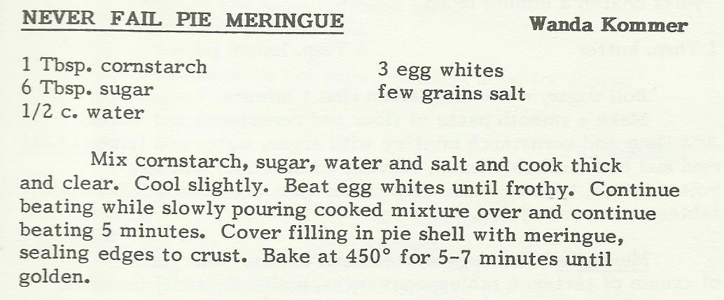 Never Fail Pie Meringue