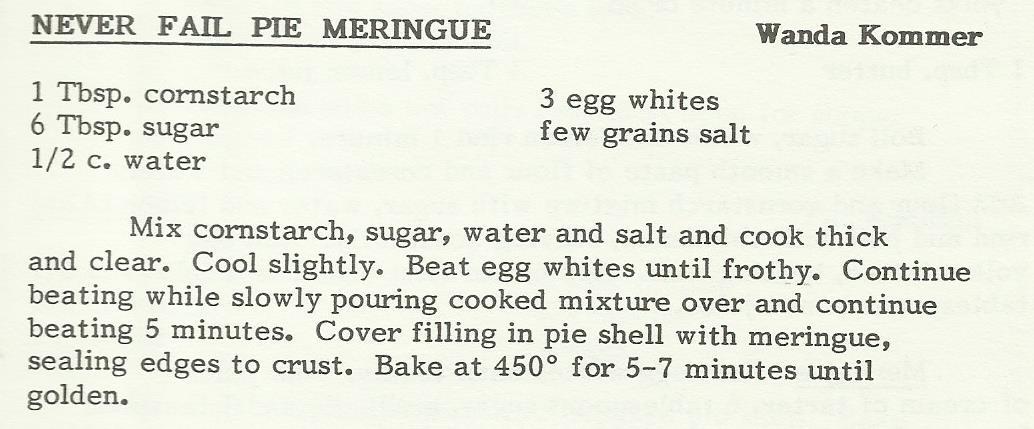 Never Fail Pie Meringue