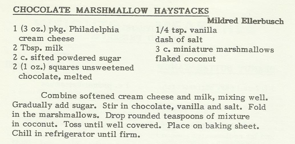 Chocolate Marshmallow Haystacks