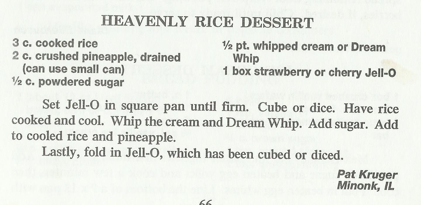 Heavenly Rice Dessert