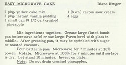 Easy Microwave Cake