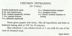 Chicken Tetrazzini (or Turkey)