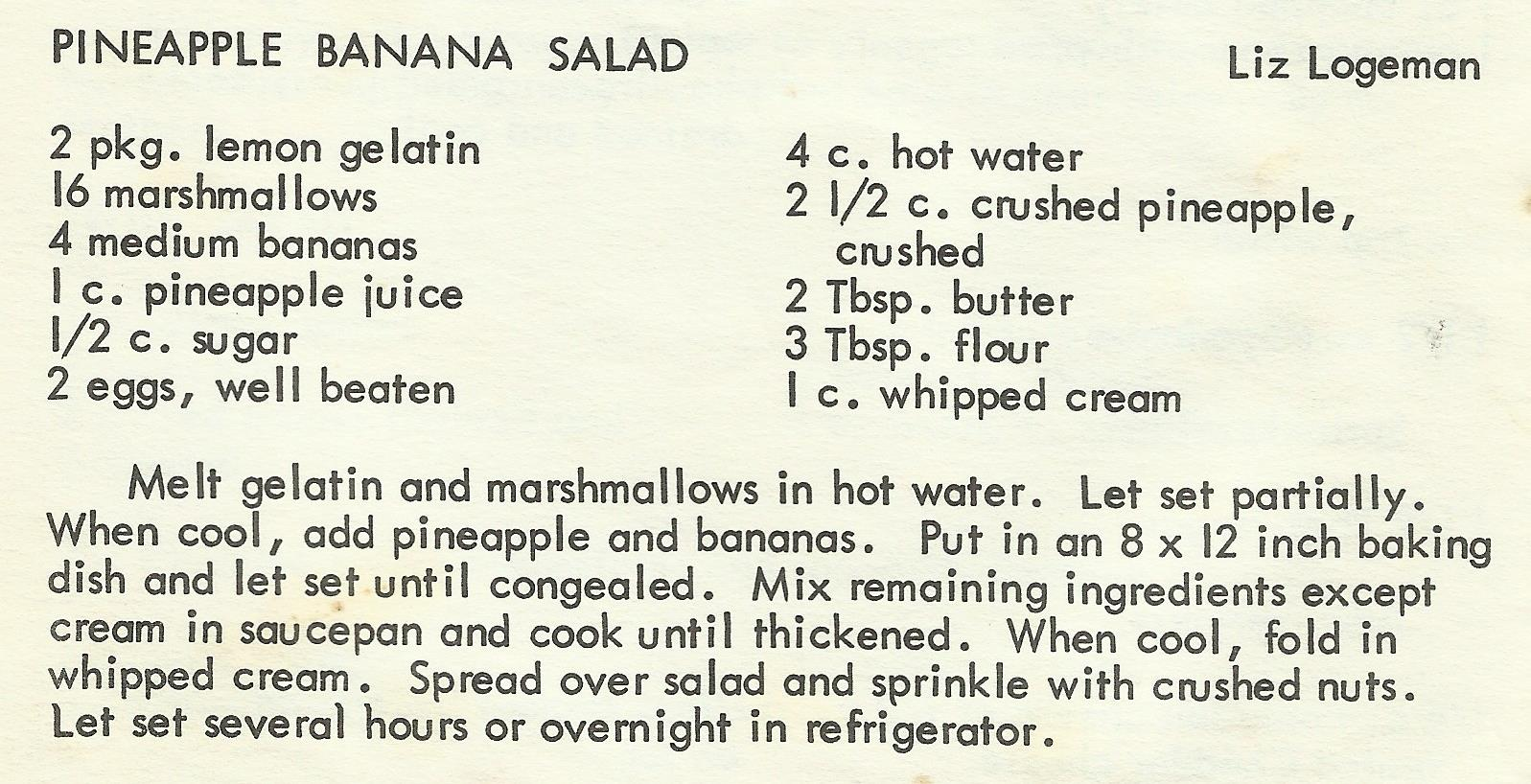 Pineapple Banana Salad